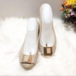 Calvin Klein Madeline Cream Flats